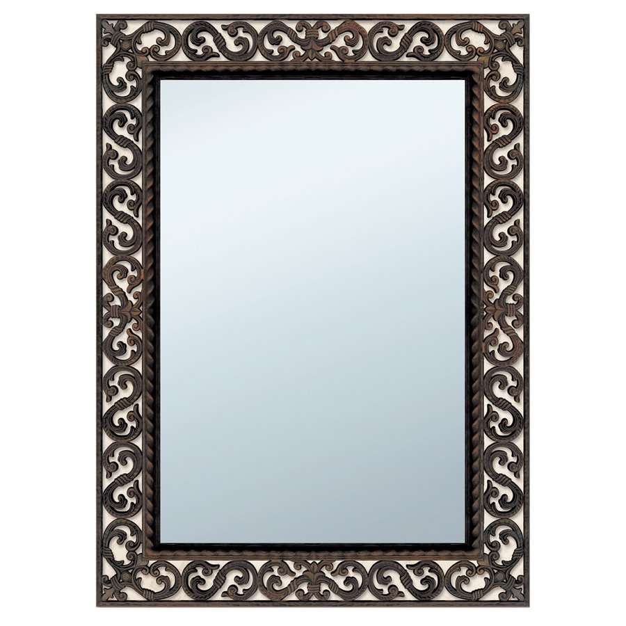 Style Selections Rustic Polished Wall Mirror