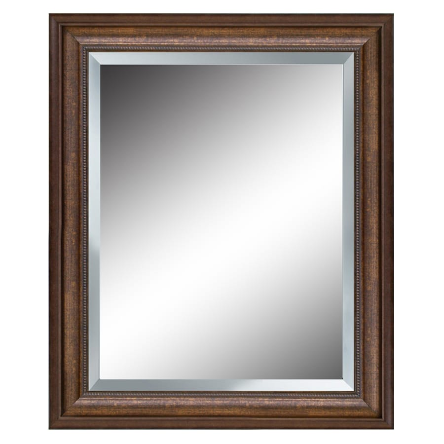 shop allen roth bronze beveled wall mirror at