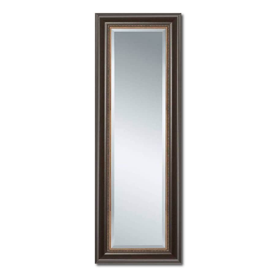 Shop Style Selections Cherry Beveled Floor Mirror at Lowes.com