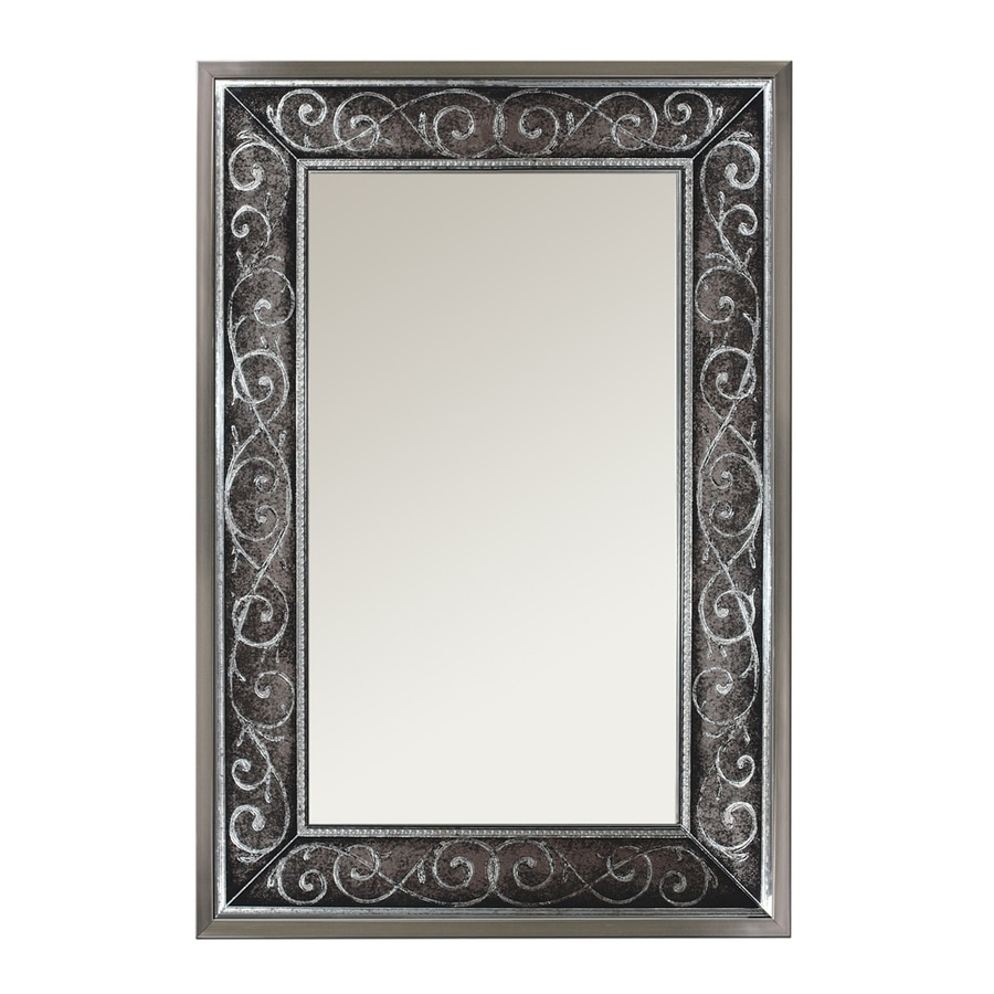 Shop Style Selections Silver Polished Wall Mirror At Lowes Com