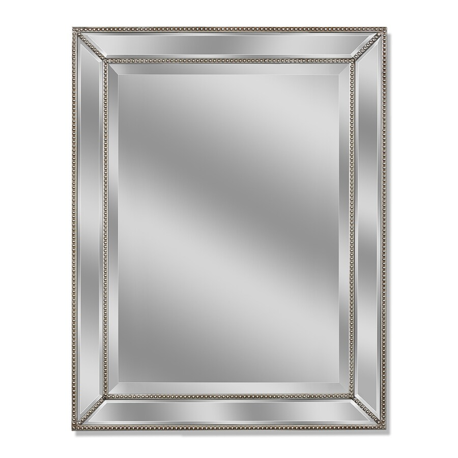 Allen Roth Silver Beveled Wall Mirror