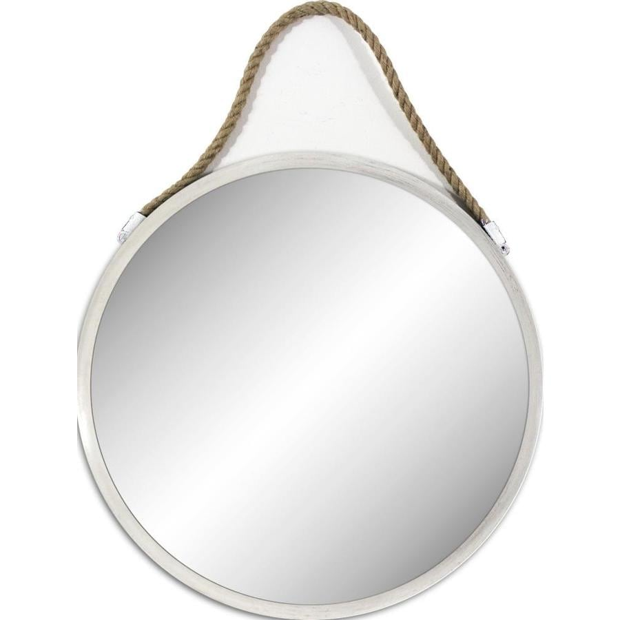 Allen Roth A R 30 In White Round Mirror