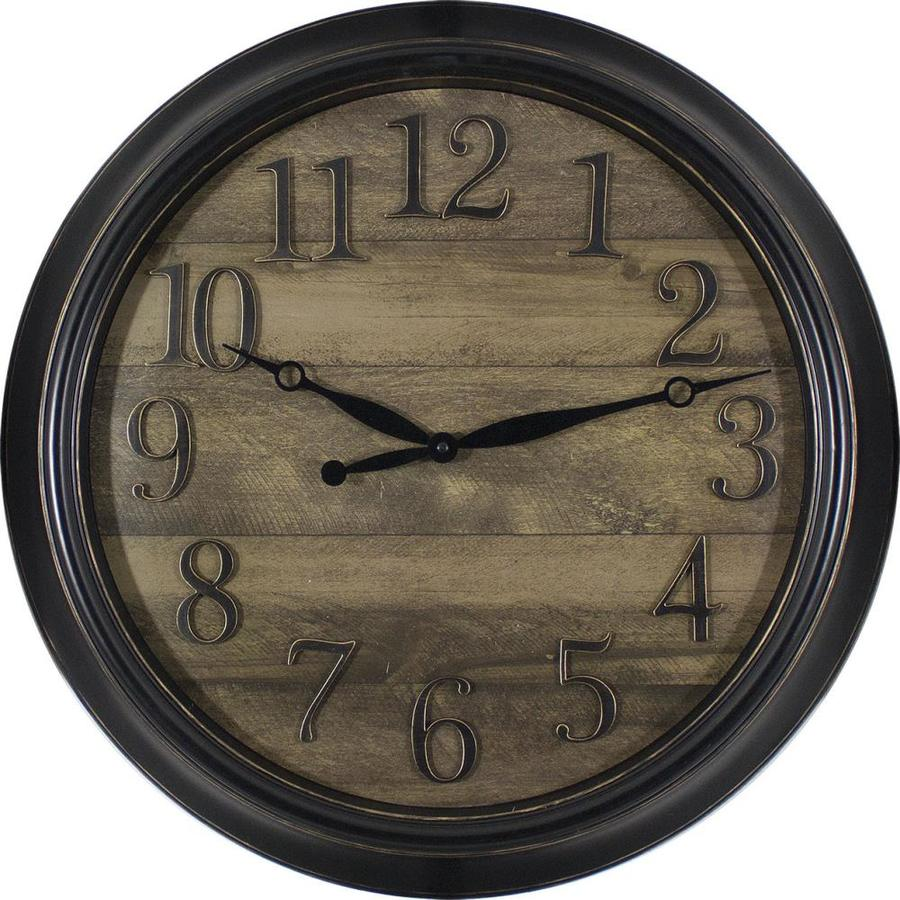 Shop Analog Round Indoor Wall Clock At Lowes