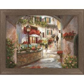 Shop wall art at lowes framed cityscape print gumiabroncs Choice Image
