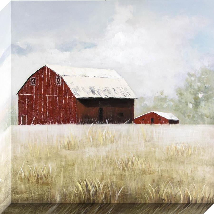 Rustic Barn Landscape Canvas Art at Lowes.com