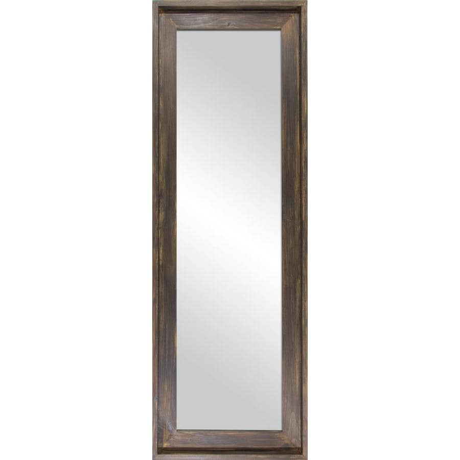 Floor Mirror Lowes: 56-in L X 19-in W Barn Wood Polished Floor Mirror At Lowes.com
