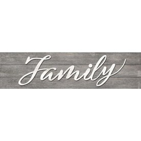 I/O 8-IN x 31-IN Gray Family Plaque