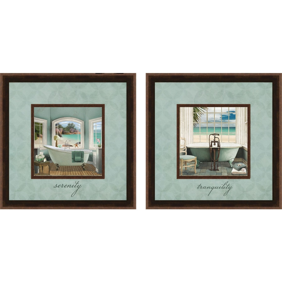 Shop 12 in w x 12 in h bath prints wall art at lowescom for Kitchen cabinets lowes with wall print art