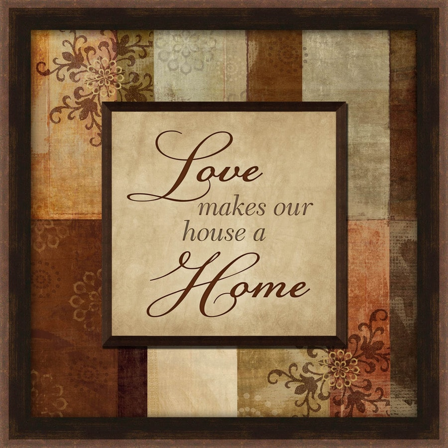 Shop 12-in W x 12-in H Framed Love Print at Lowes.com