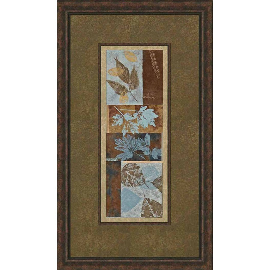 shop 285 in w x 165 in h leaves framed art at lowescom With kitchen cabinets lowes with framed leaves wall art