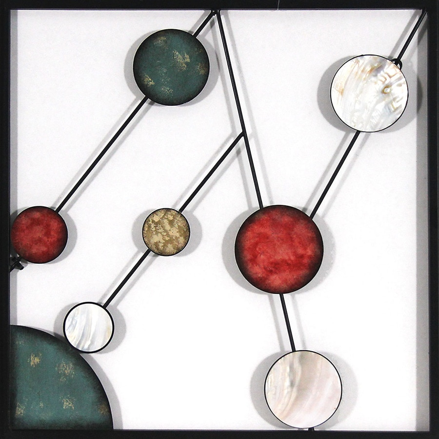 18-in W x 18-in H Abstract Metal Wall Art