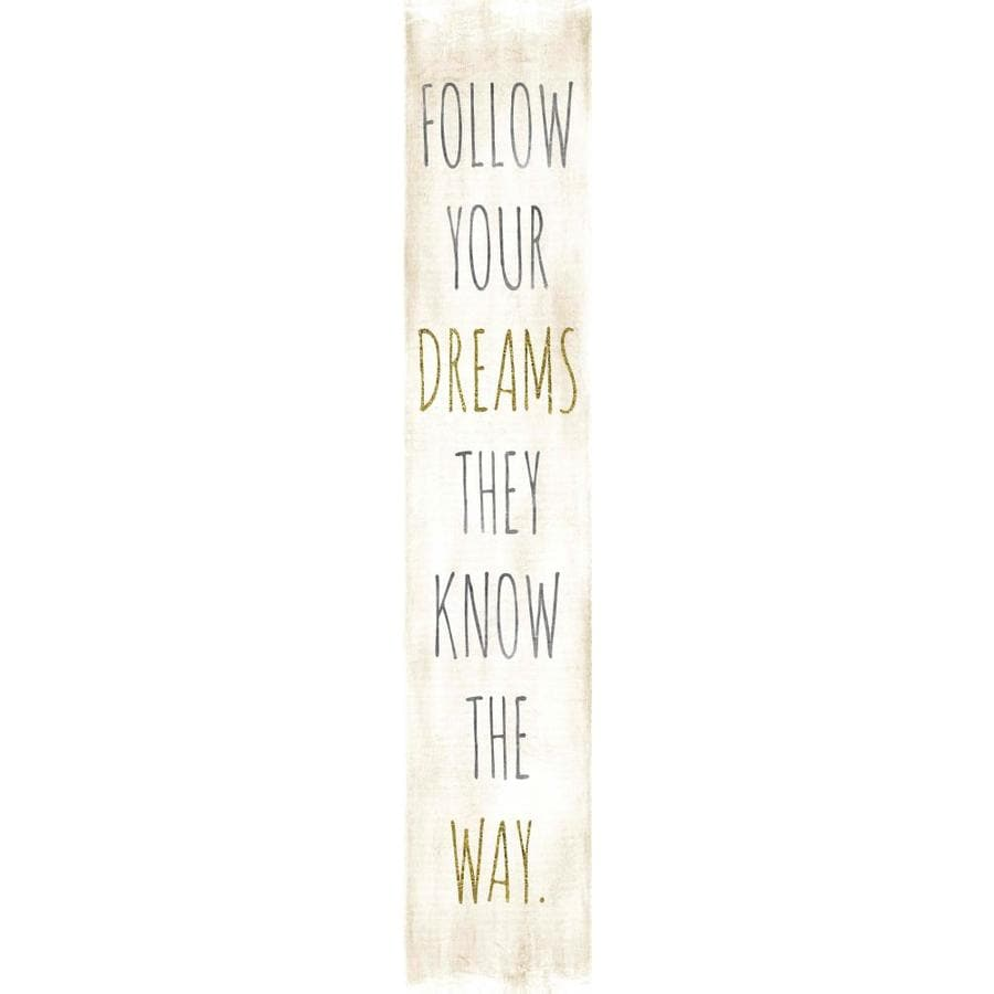7-in W x 37-in H Frameless MDF Inspirational Print Wall Art
