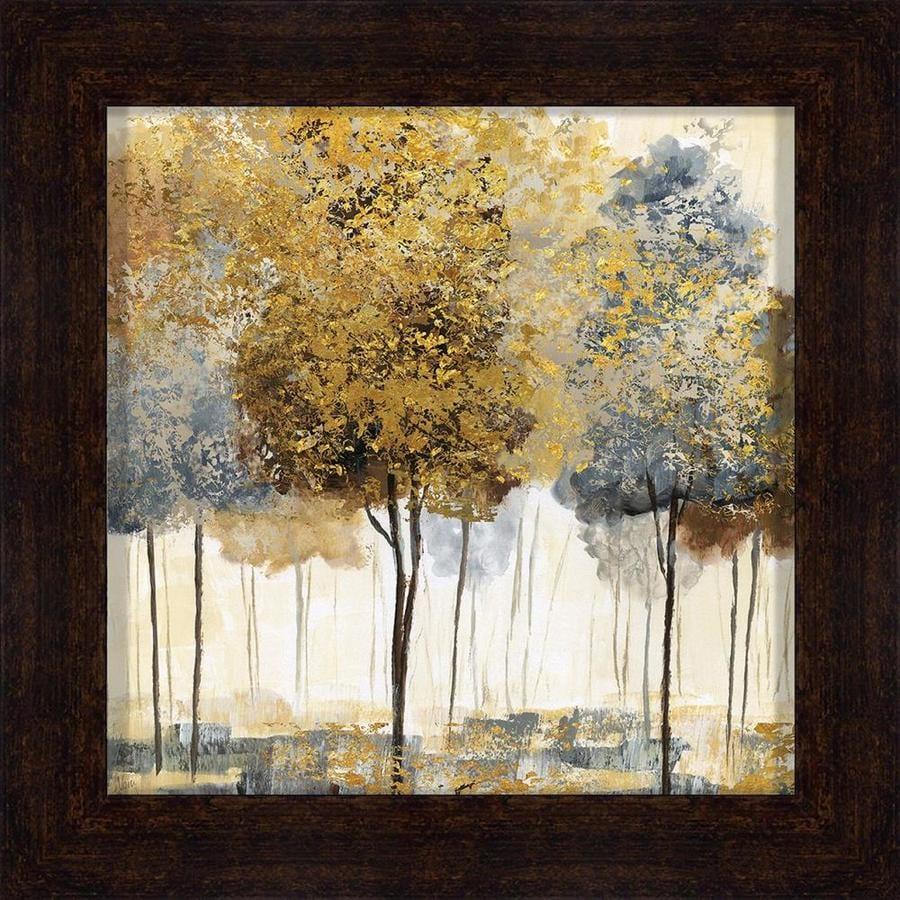 34-in W x 34-in H Framed Landscape Print Wall Art