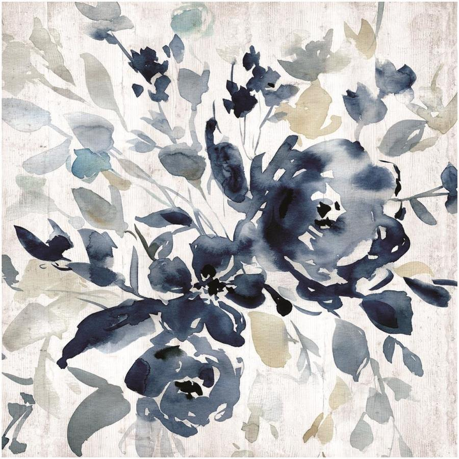 1-Piece 34-in W x 34-in H Frameless MDF Floral Print Wall Art