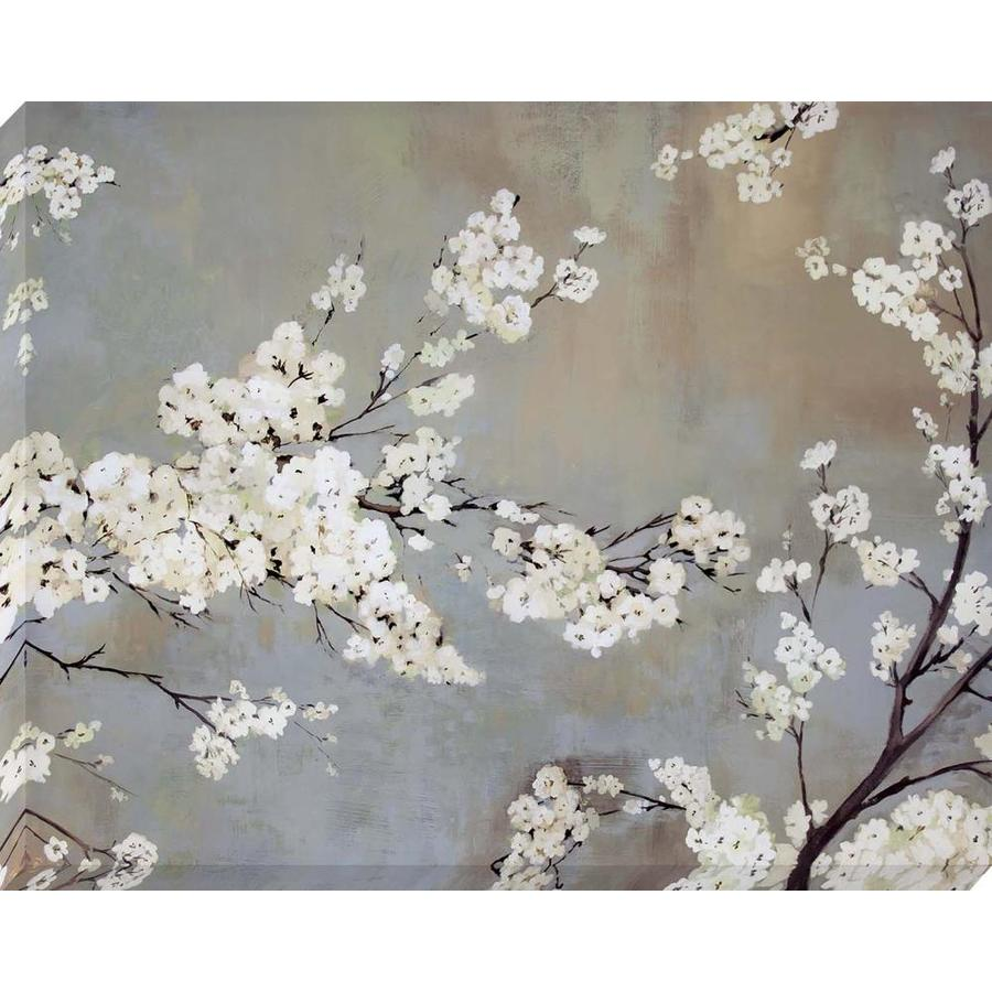 1-Piece 37-in W x 30-in H Frameless Canvas Floral Print Wall Art