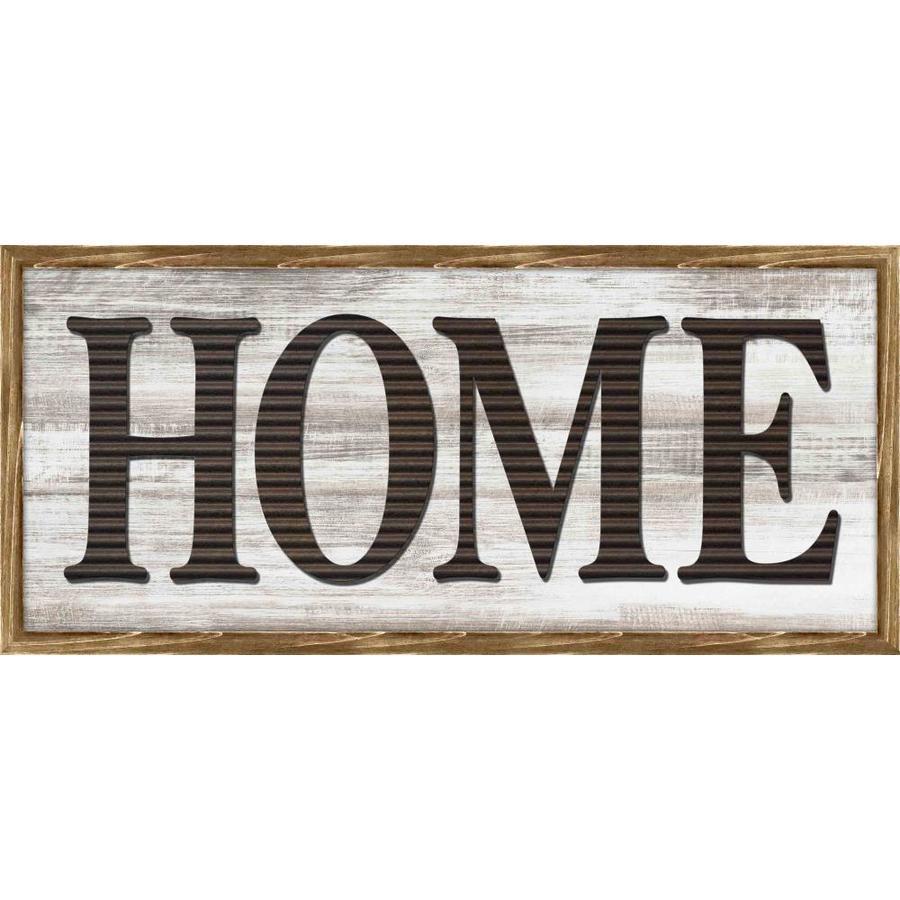 Shop Framed Home Wood Word Art at Lowes.com
