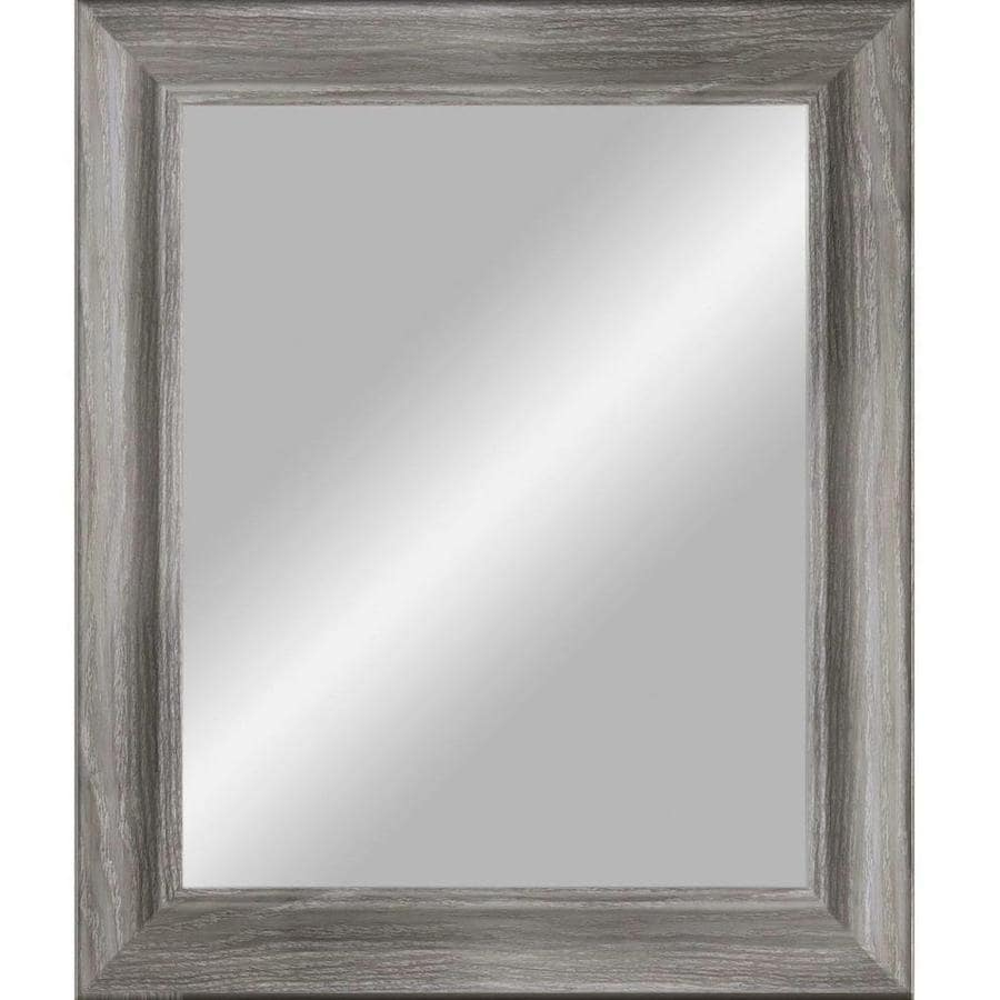 Grey Beveled Wall Mirror