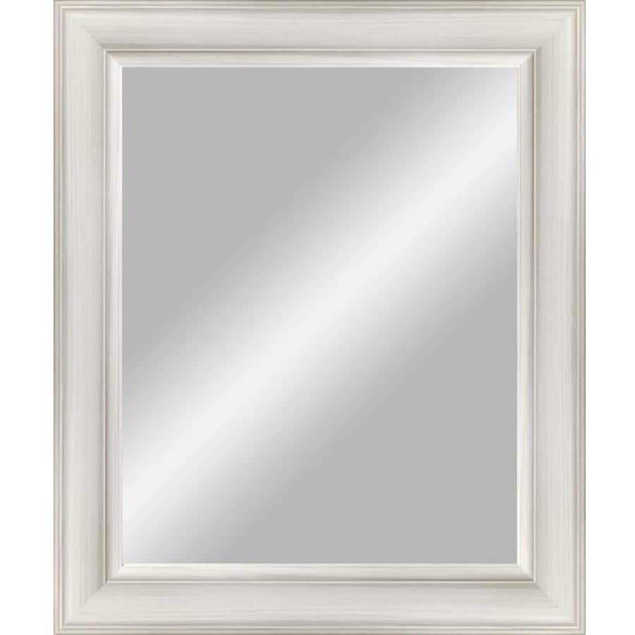 shop bathroom mirrors shop 38 5 in x 48 5 in white beveled rectangle 14395