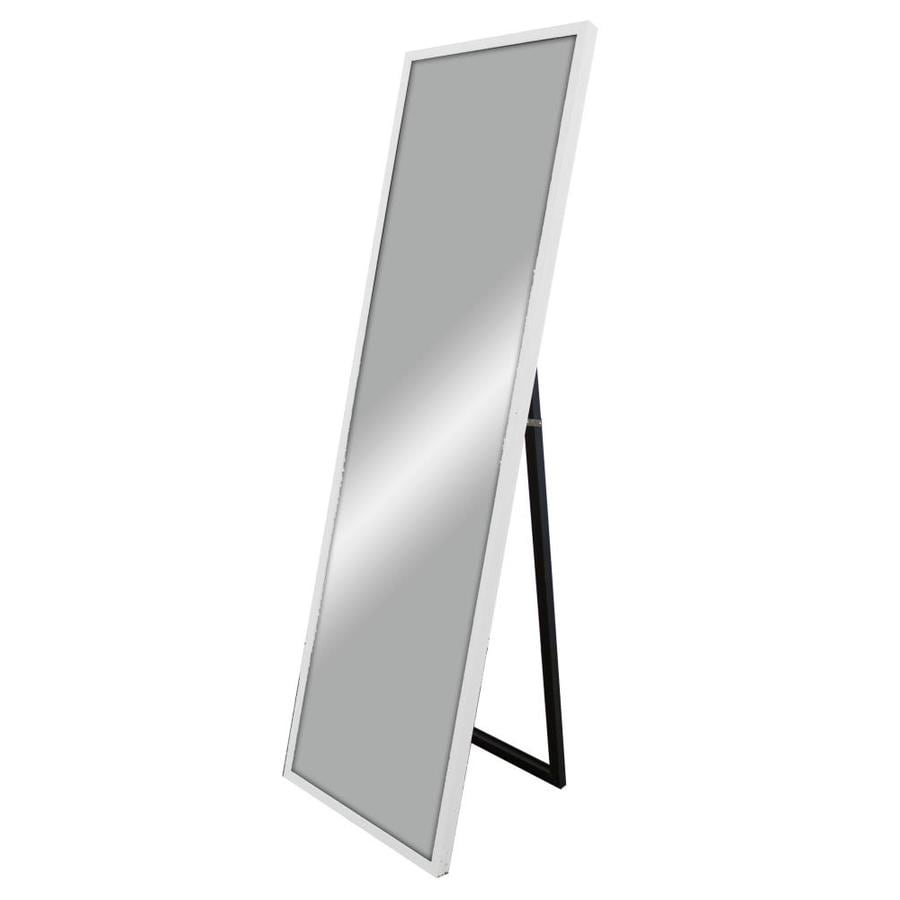 59 In L X 17 7 W White Polished Wall Mirror
