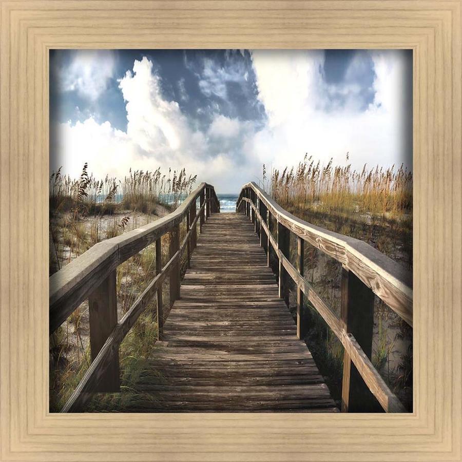 34-in W x 34-in H Framed Coastal Print Wall Art