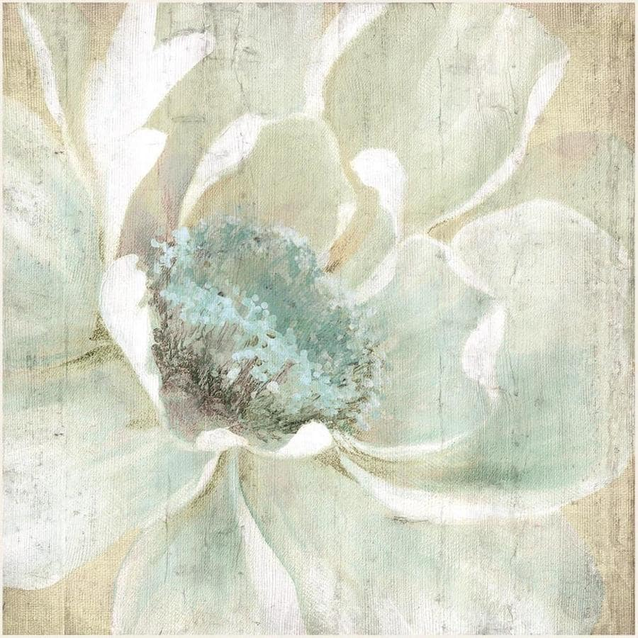 34-in W x 34-in H Frameless MDF Floral Print Wall Art