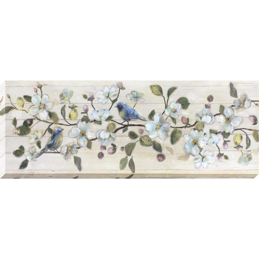 37-in W x 14-in H Frameless Canvas Floral Print Wall Art