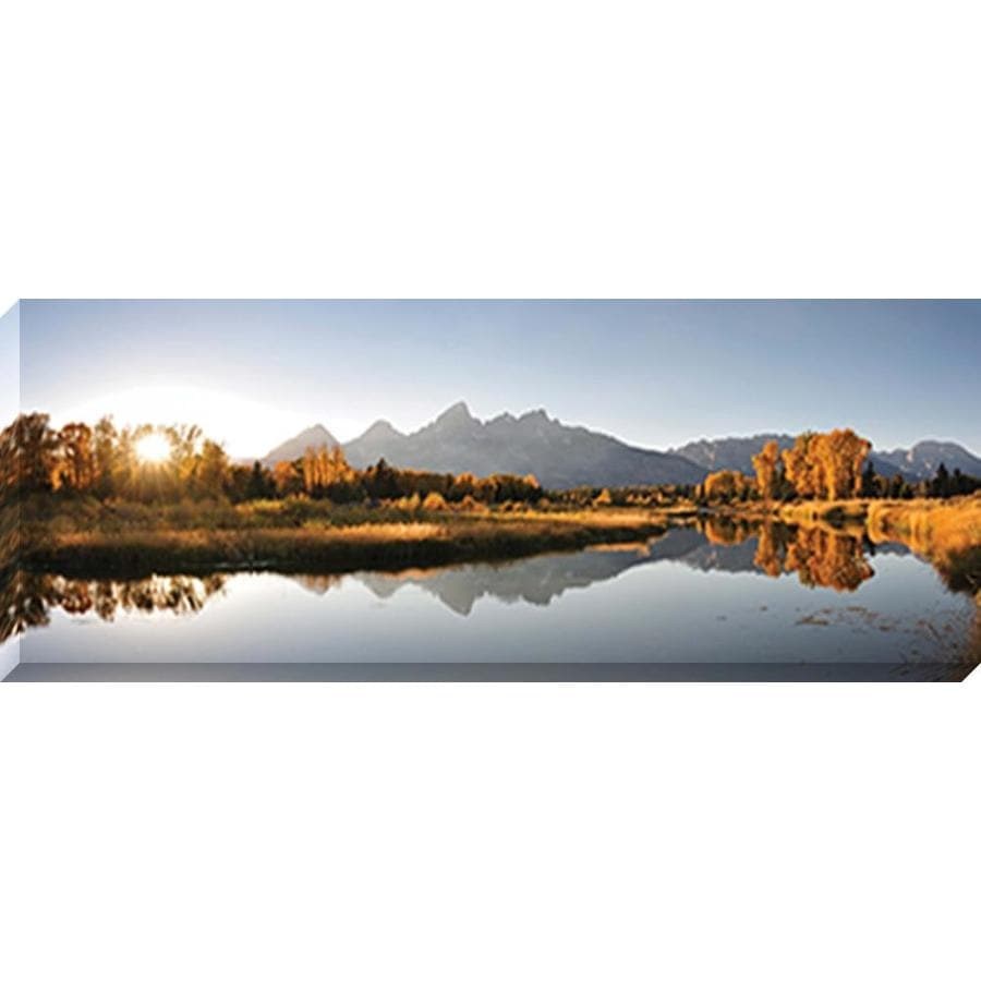 37-in W x 14-in H Frameless Canvas Photography Print Wall Art