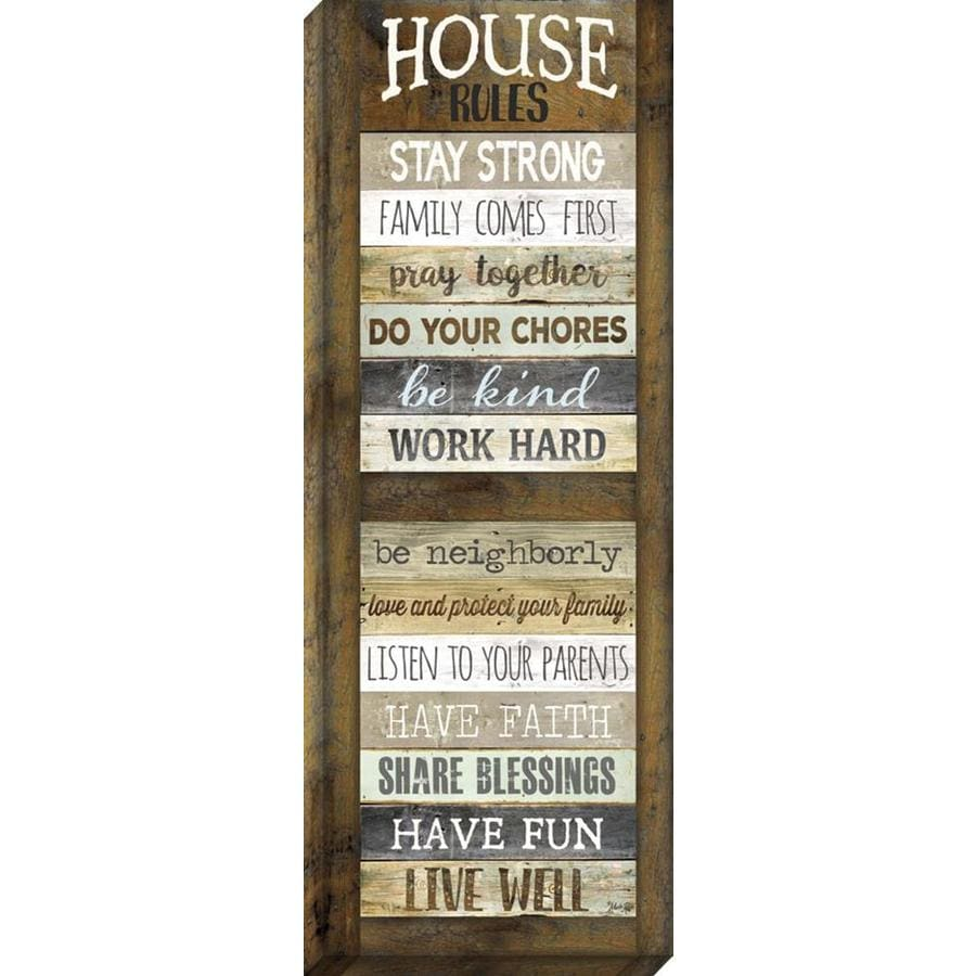 14-in W x 37-in H Frameless Canvas Inspirational Print Wall Art