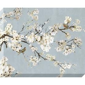 Shop wall art at lowescom for Best brand of paint for kitchen cabinets with cherry blossom canvas wall art