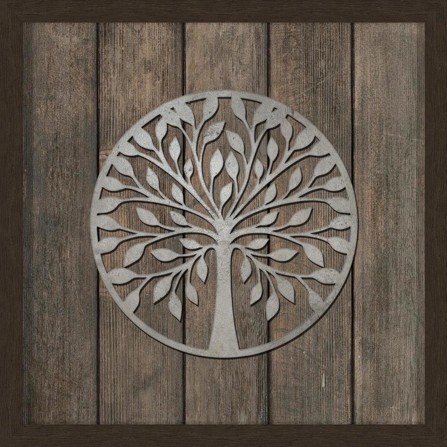 30-in W x 30-in H Framed Resin Tree Print Wall Art