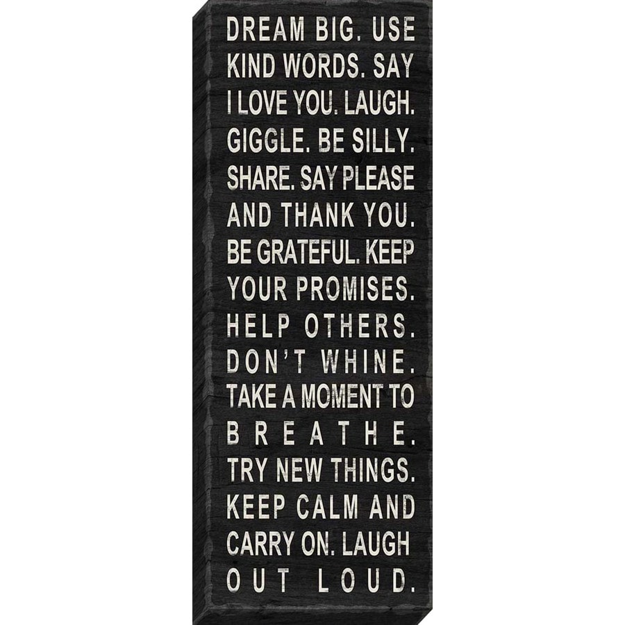 37-in W x 14-in H Frameless Canvas Inspirational Print Wall Art