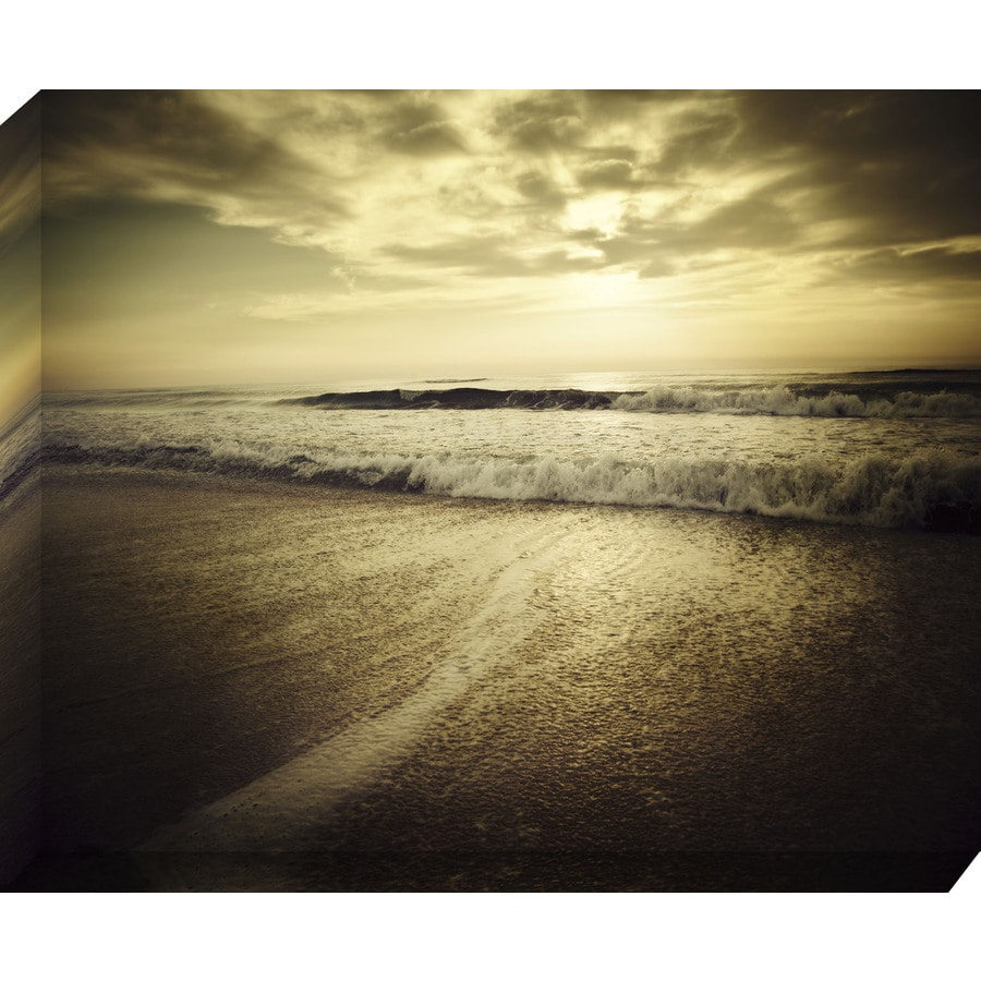 37-in W x 30-in H Frameless Canvas Coastal Print Wall Art