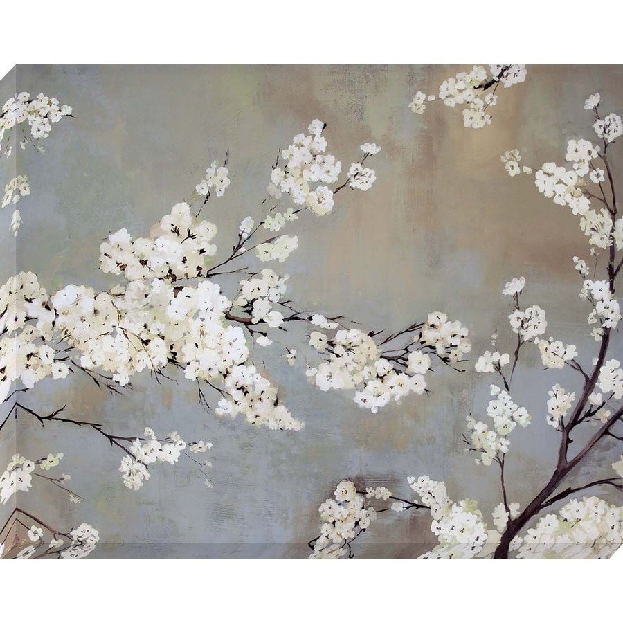 37-in W x 30-in H Frameless Canvas Floral Print Wall Art