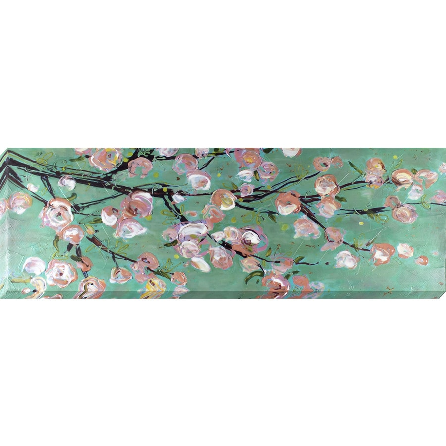36-in W x 12-in H Frameless Canvas Floral Print Wall Art