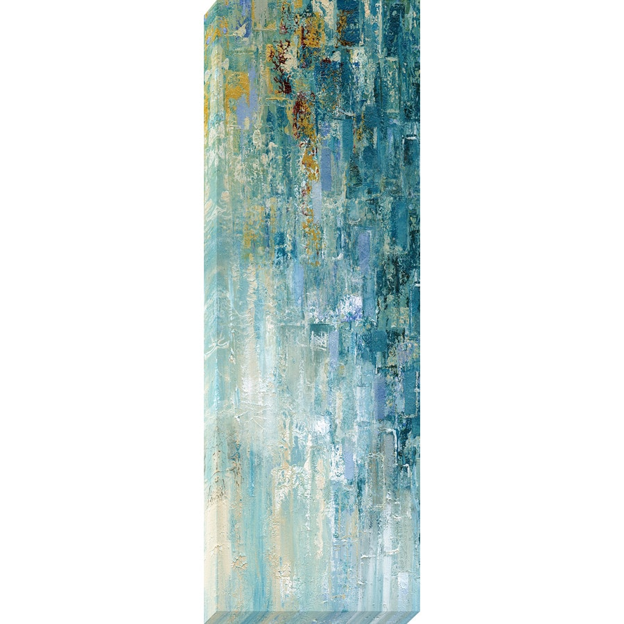 12-in W x 36-in H Frameless Canvas Abstract Print Wall Art