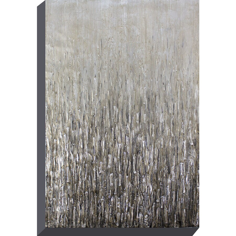 Shop 30 in w x 40 in h frameless canvas abstract painting for Kitchen cabinets lowes with stretched canvas wall art