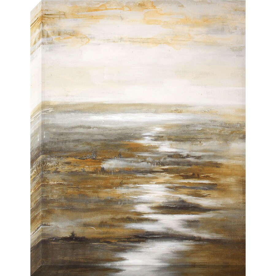 1-Piece 30-in W x 40-in H Frameless Canvas Abstract Print Wall Art