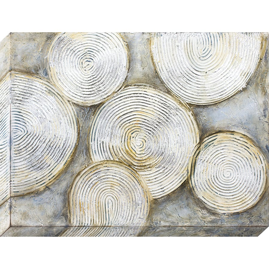 1-Piece 40-in W x 30-in H Frameless Canvas Abstract Print Wall Art