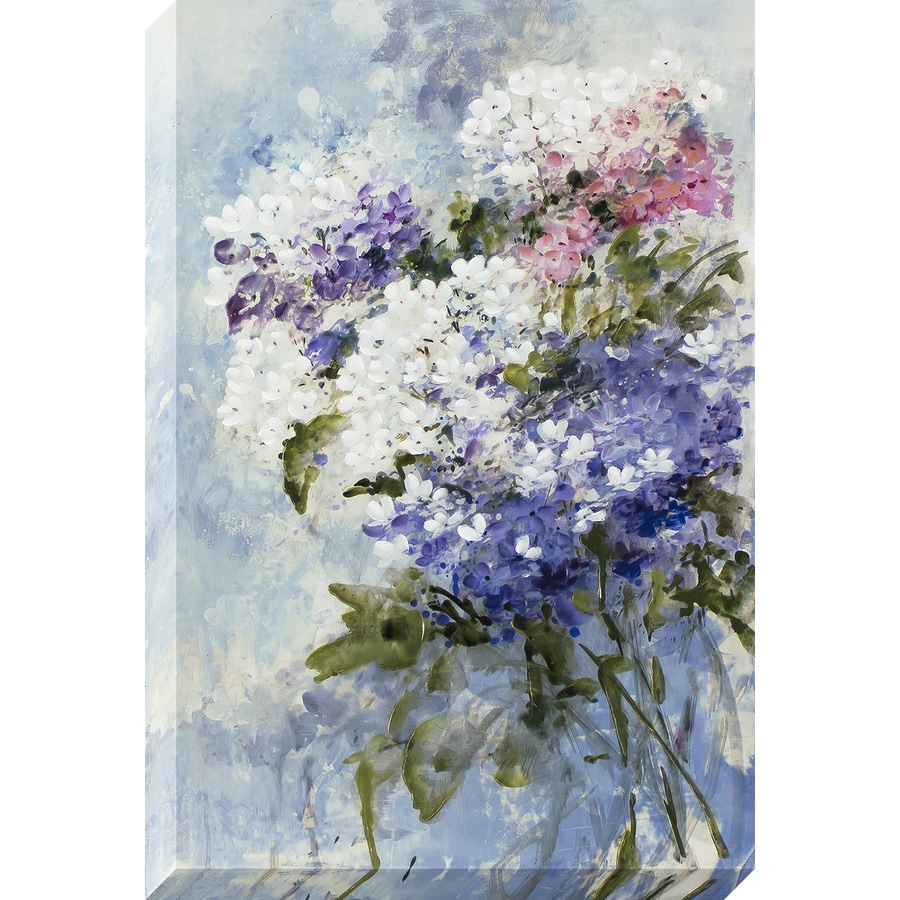 24-in W x 36-in H Frameless Canvas Floral Print Wall Art