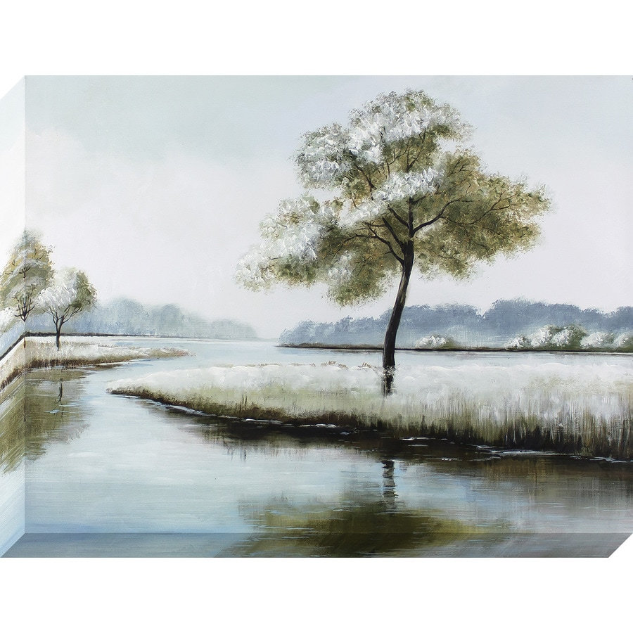 1-Piece 30-in W x 40-in H Frameless Canvas Landscapes Print Wall Art
