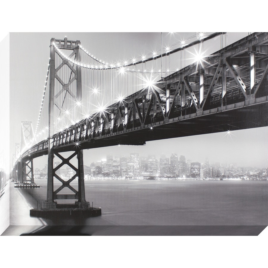 30-in W x 40-in H Frameless Canvas Photography Print Wall Art