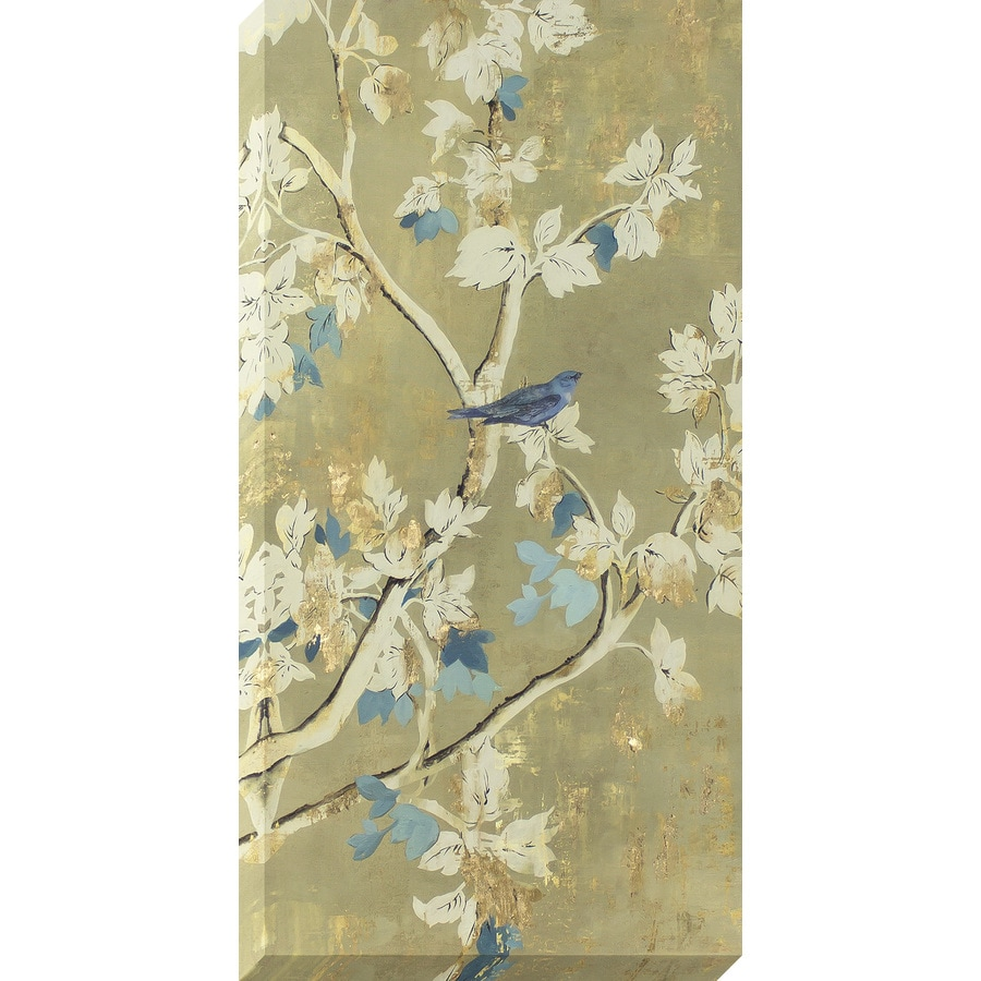 1-Piece 18-in W x 36-in H Frameless Canvas Floral Print Wall Art