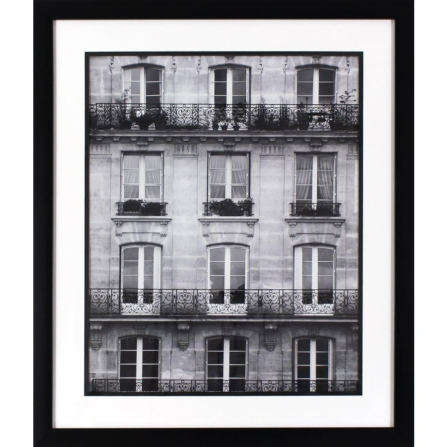 21.75-in W x 25.75-in H Framed Cityscape Print Wall Art