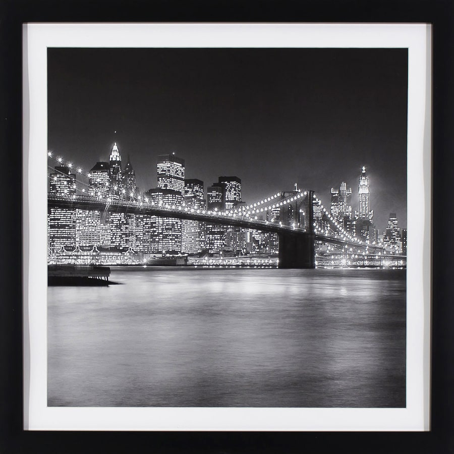 29-in W x 29-in H Framed Cityscape Print Wall Art