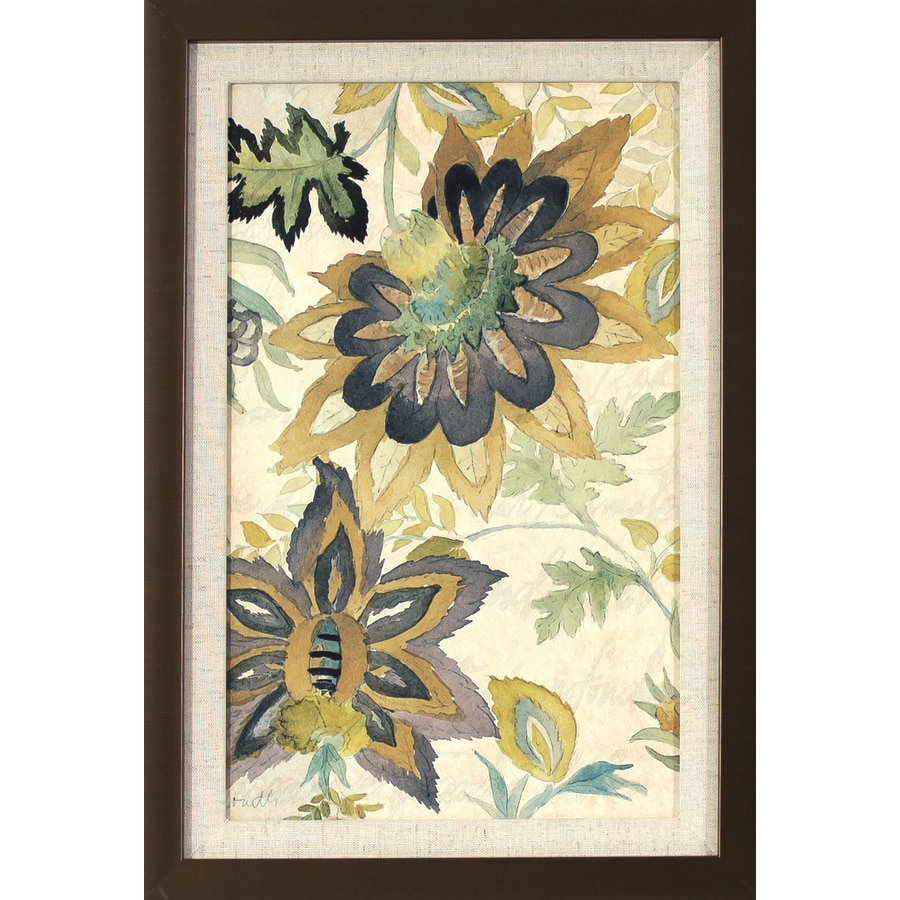 12.5-in W x 18.5-in H Framed Floral Print Wall Art