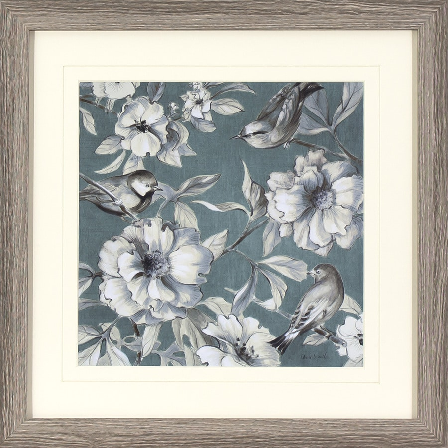 18-in W x 18-in H Framed Floral Print Wall Art