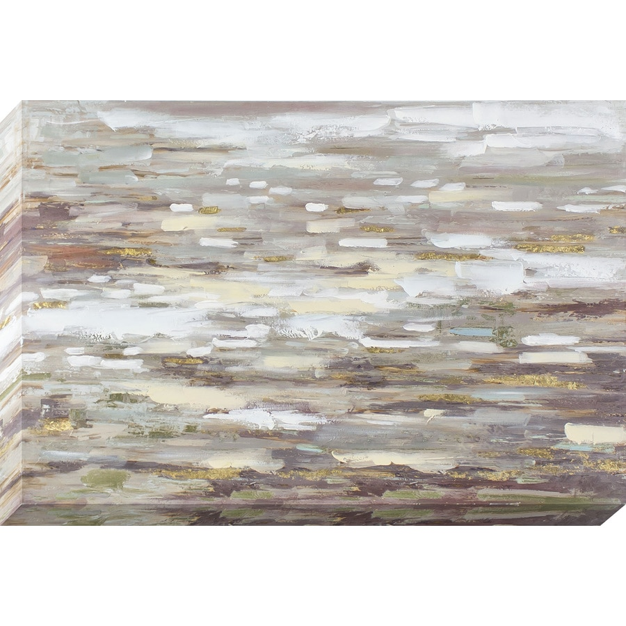 24-in W x 36-in H Frameless Canvas Abstract Print Wall Art