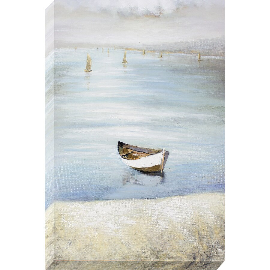 1-Piece 24-in W x 36-in H Frameless Canvas Coastal Print Wall Art