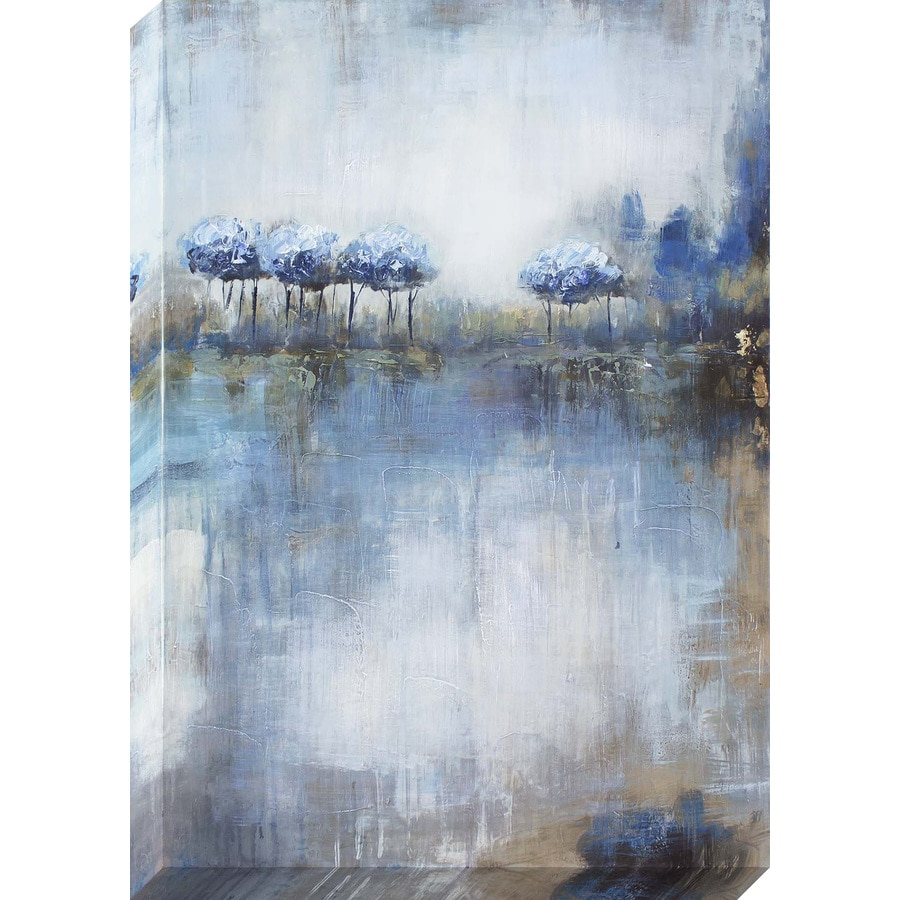 1-Piece 24-in W x 36-in H Frameless Canvas Abstract Print Wall Art