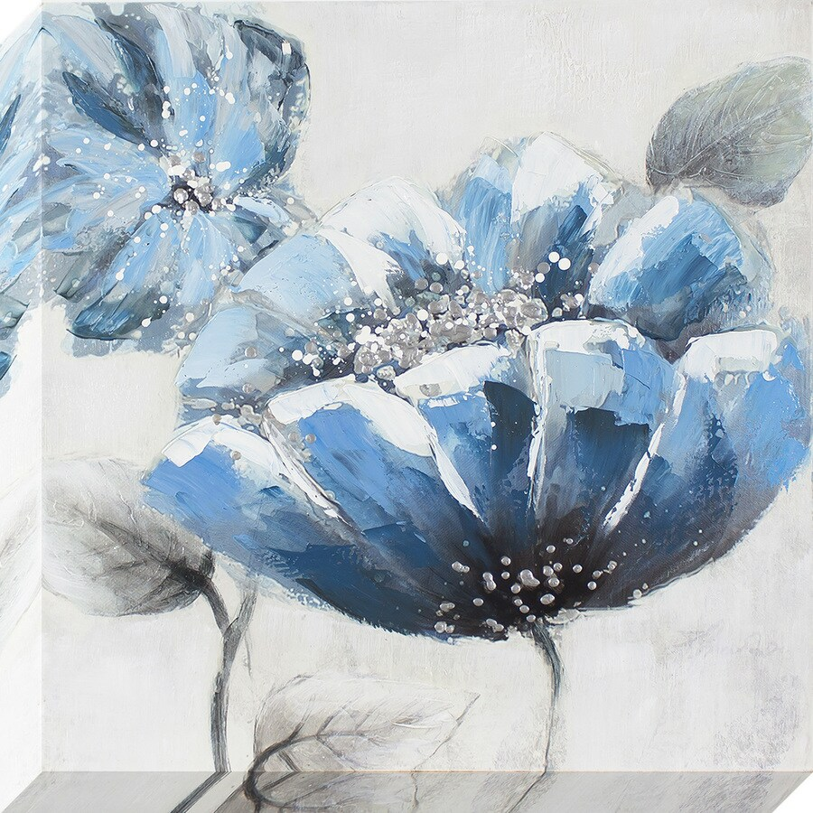 24-in W x 24-in H Frameless Canvas Floral Print Wall Art